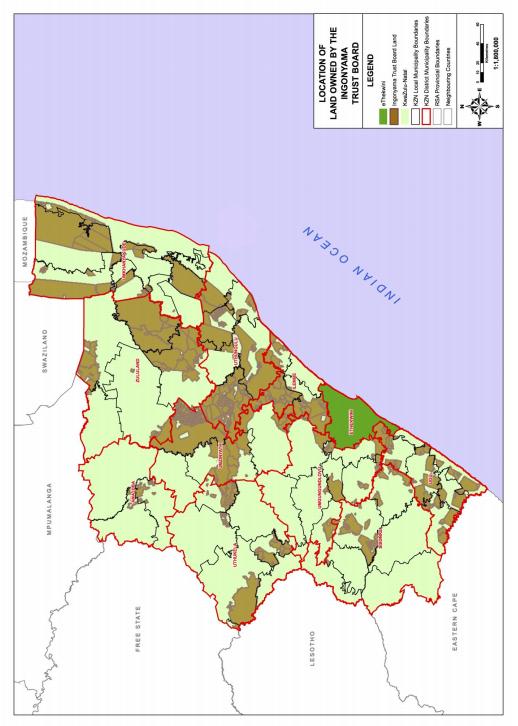 Ingonyama trustland map