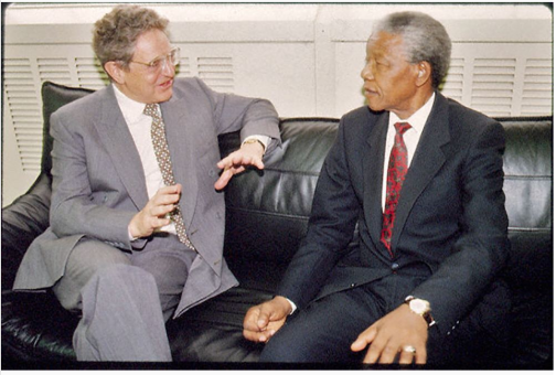 George Soros and Mandela
