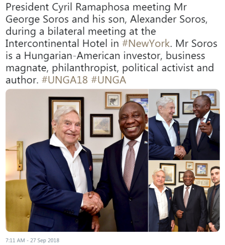Image result for ramaphosa george soros