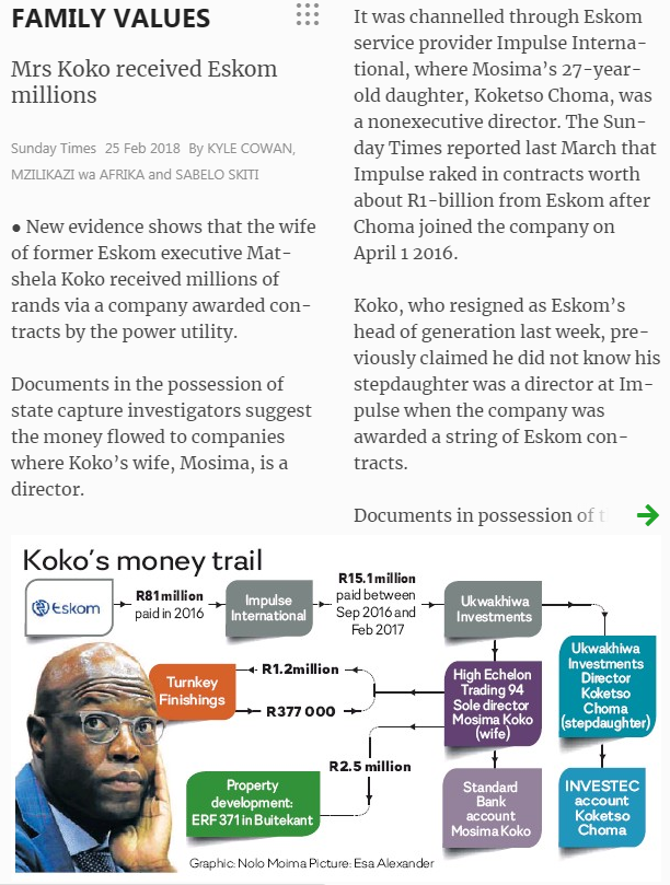 Koko money trail