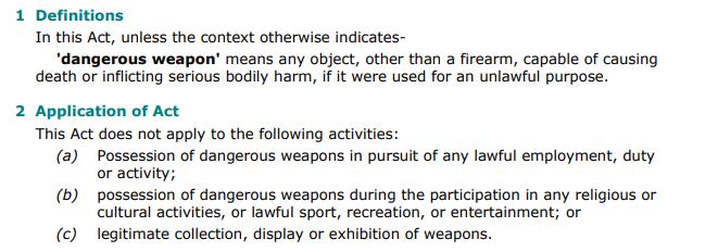 gevaarlike wapen