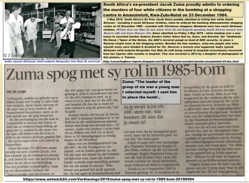 Image result for Zuma spog met sy rol in 1985 bom