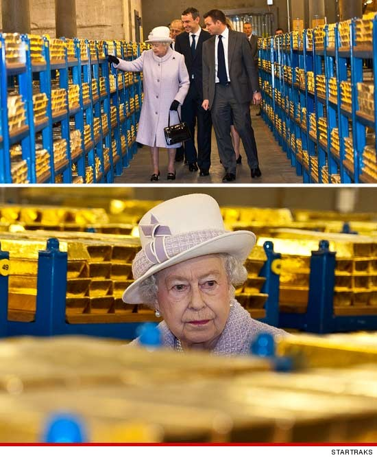 Maxy's Hideout: Queen Elizabeth II Visits the Vault at the Bank of England