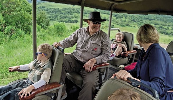 Monaco Prince family's summer holiday in South Africa